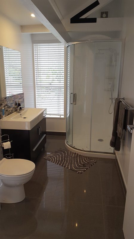 Shared bathroom. Brand new.