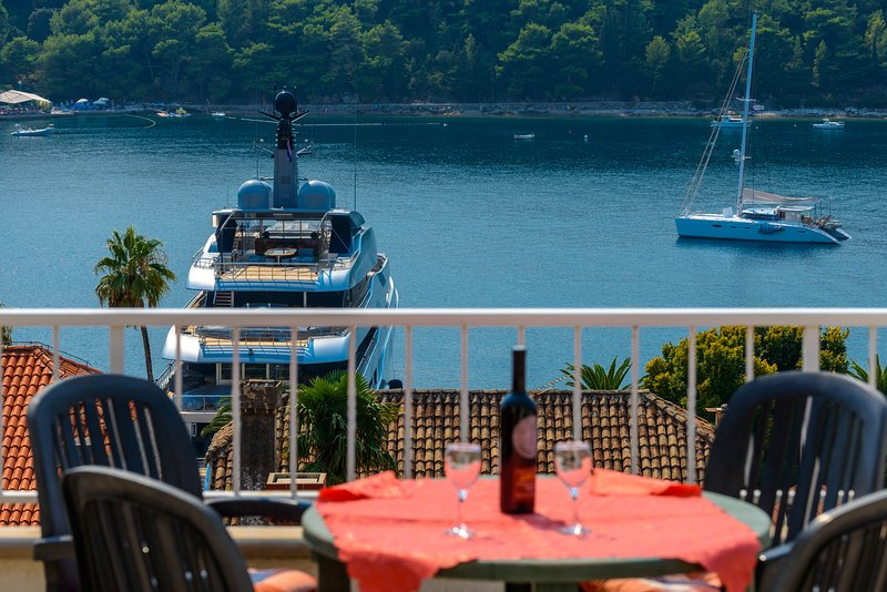 Cavtat Blick auf den Hafen