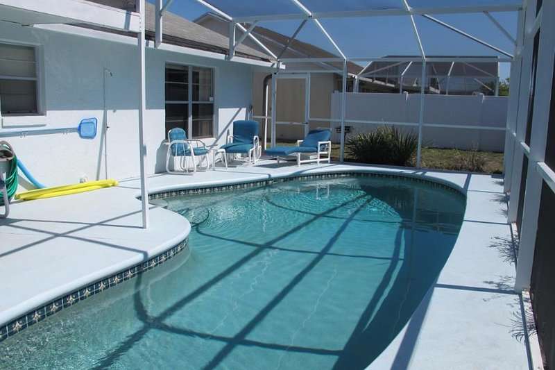 Enjoy the refreshing south-facing pool after a fun-filled day
