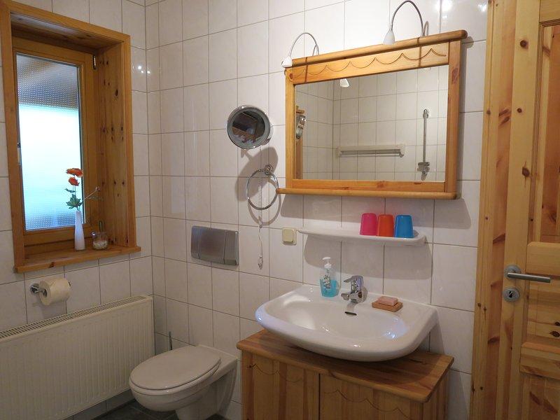 Cuarto de baño con espejo de cortesía