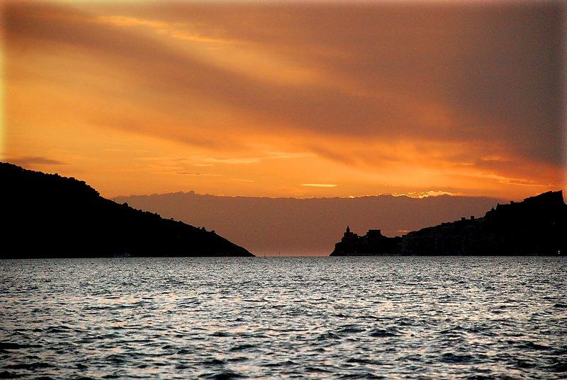 Solnedgång i Portovenere