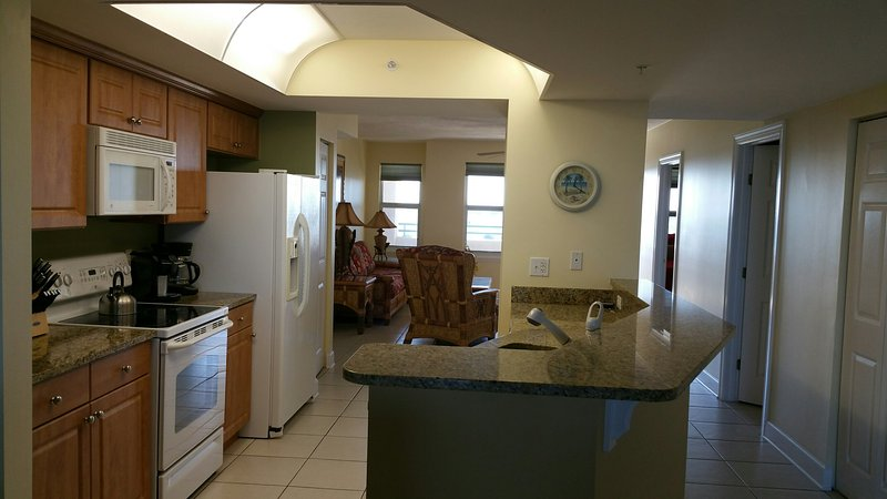 Large Well Equipped Kitchen w/ Ocean and River View