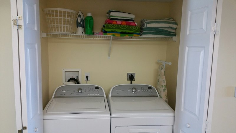 Full Size Washer & Dryer Inside the Condo, Beach Towels Provided