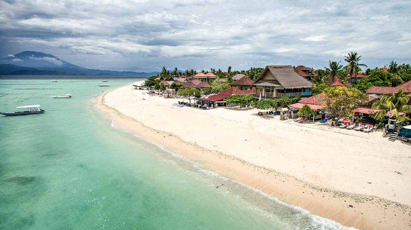 Kainalu Villa si trova proprio sulla spiaggia migliore di Jungutbatu