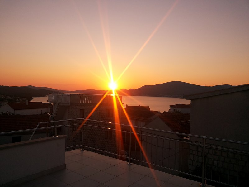 Sunset from roof terrace
