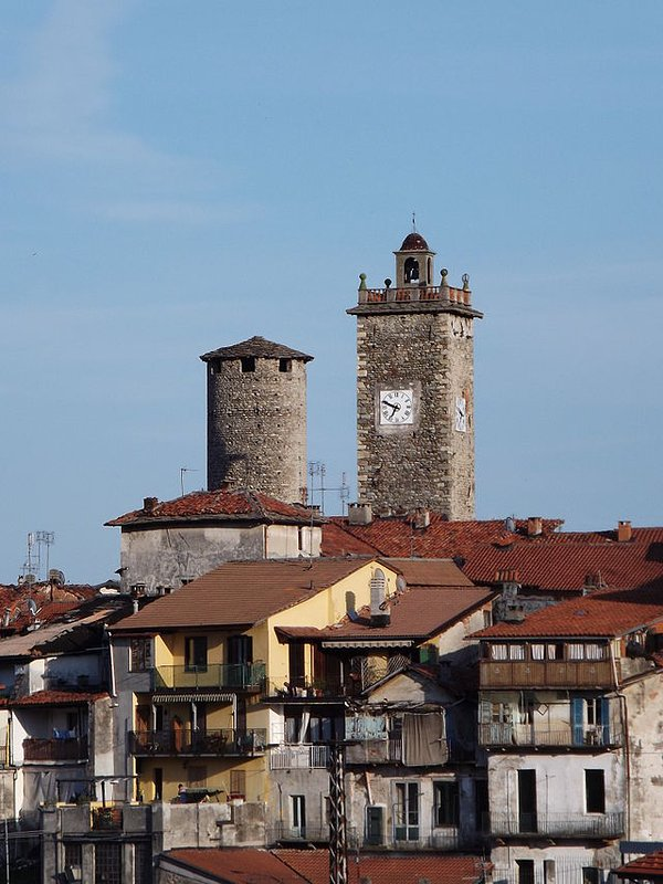 The two ancient towers, a symbol of Cuorgnè