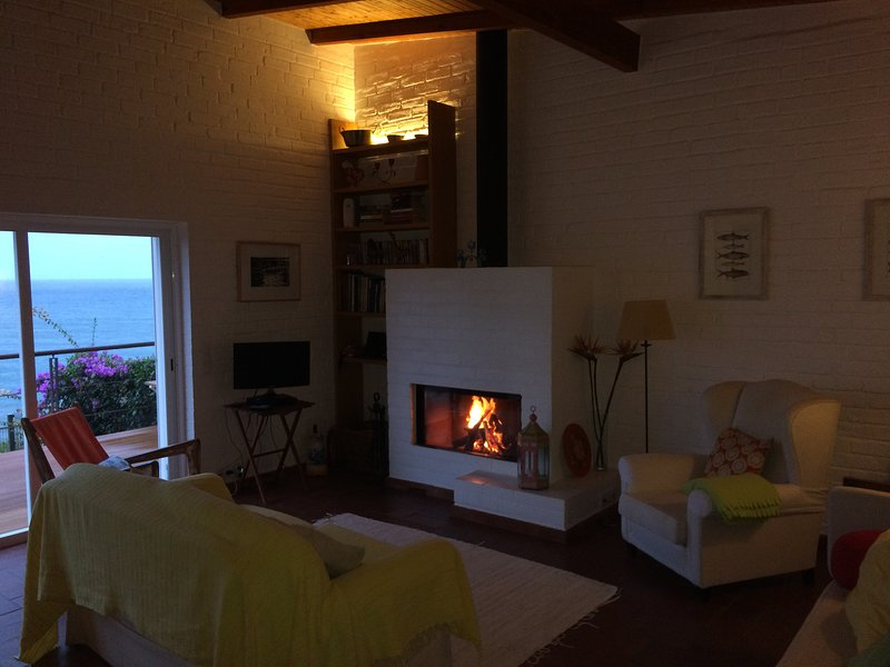 Fire and ocean view