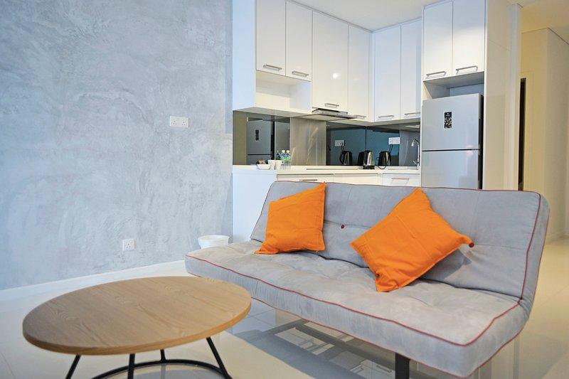 Monolocale soggiorno e la cucina