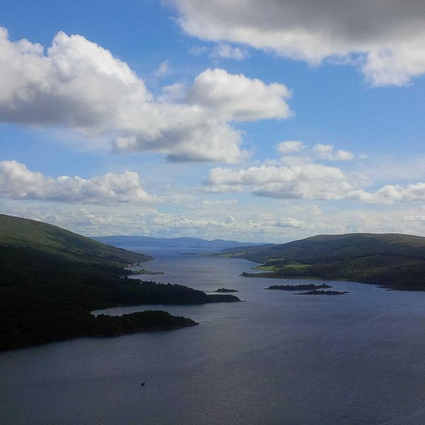 Stunning views over The Kyles Of Bute from the view point as you drop down towards Tighnabruaich.