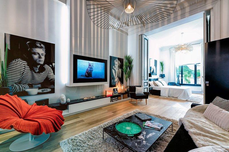 Salon avec canapé-lit de haute qualité