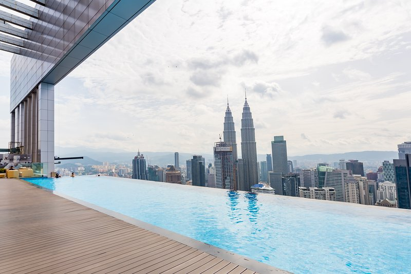KLCC view from pool. Best pool view