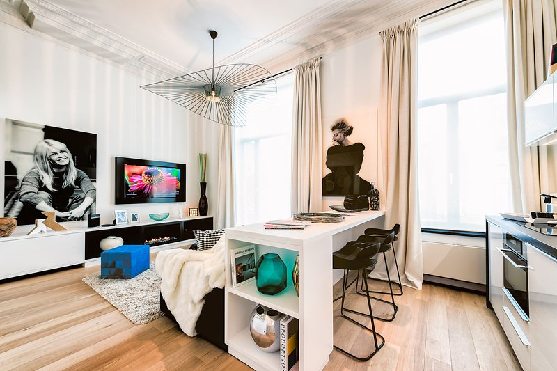 Louise/Châtelain - Bright Studio Apartment with Balcony, holiday rental in Saint-Gilles