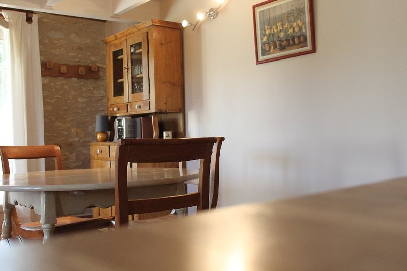 part of the dining area of ​​the cottage.