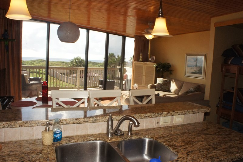 View of the ocean while you wash dishes or cook your favorite meal!