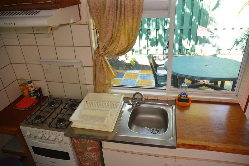 Vue de 2 ème terrasse de la cuisine