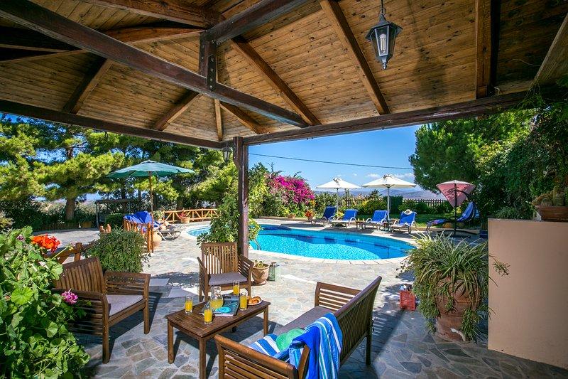 Couvert terraceby la piscine