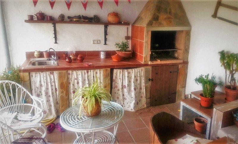 Big house with garden, aluguéis de temporada em Losacio