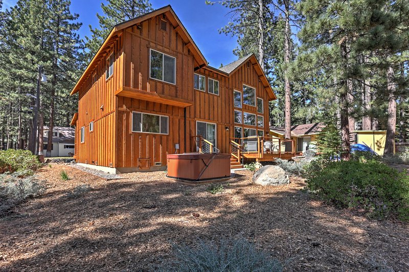 Escape to this lovely South Lake Tahoe home with private hot tub.
