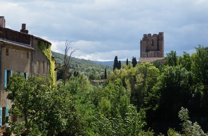 Lagrasse and its listed abbey, an hour away in the Corbières mountains