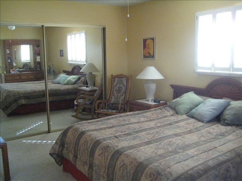 Master bedroom with California King mattress