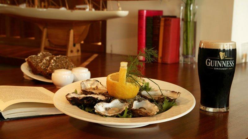 Las ostras y Guinness en el hotel Mulranny Park