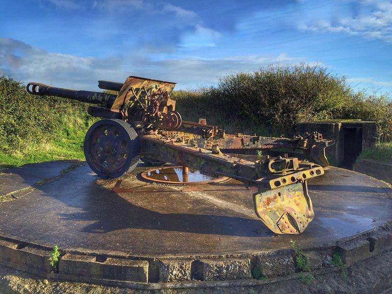 Maisy Battery - substantial gun battery taken by American Rangers
