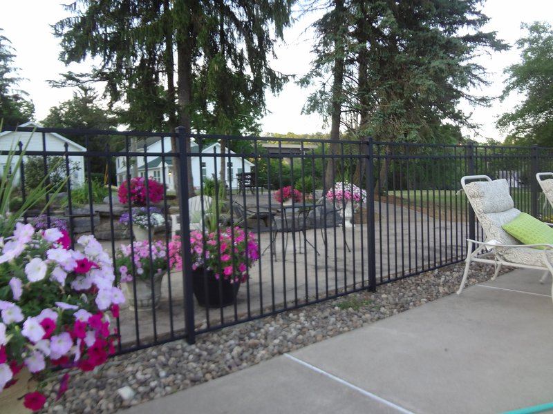 Pool area's patio
