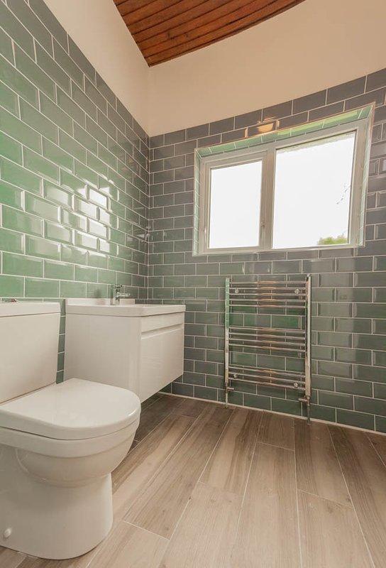 Newly refurbished ensuite shower room.