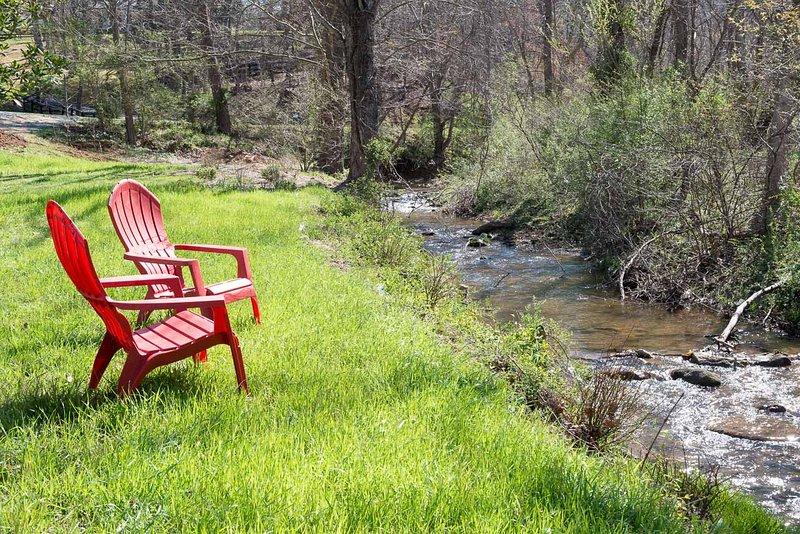 Enjoy sitting by the creek.