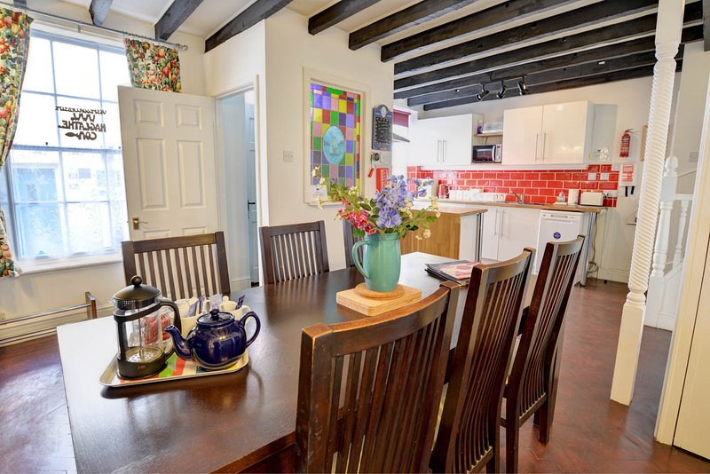Ground floor dining kitchen.  Ideal for spending a sociable night in.