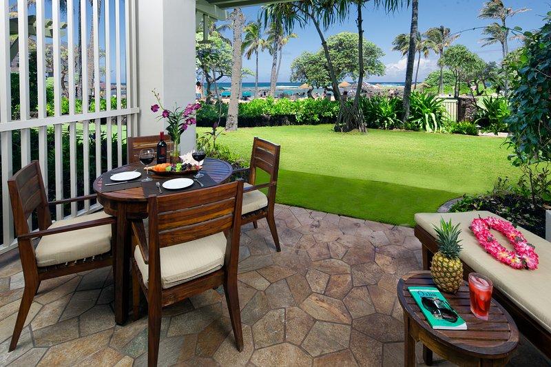 Floor plan when renting Studio villa 102 with 3-bedroom Villa 103.