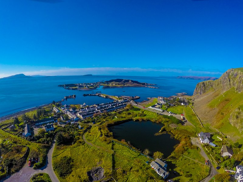 Ellenabeich village and Easdale Island