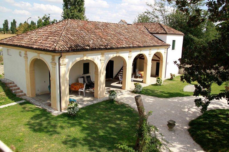 The Barchessa (the porch) of Villa Pastori