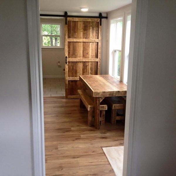 Fronte di cucina e bagno ingresso da soggiorno