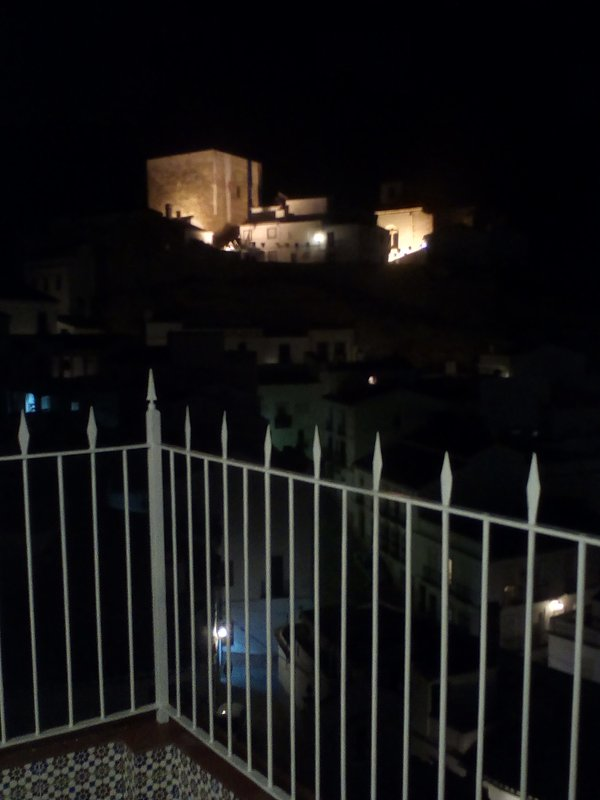 Night view of the Historic from the terrace