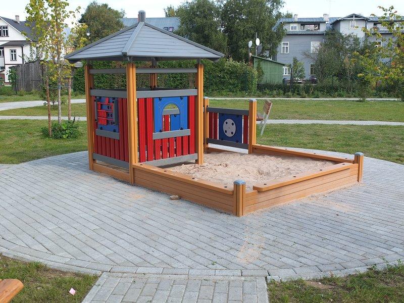 Children's playground in the courtyard