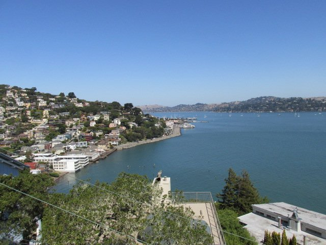 Million-dollar views of Sausalito and the Bay.