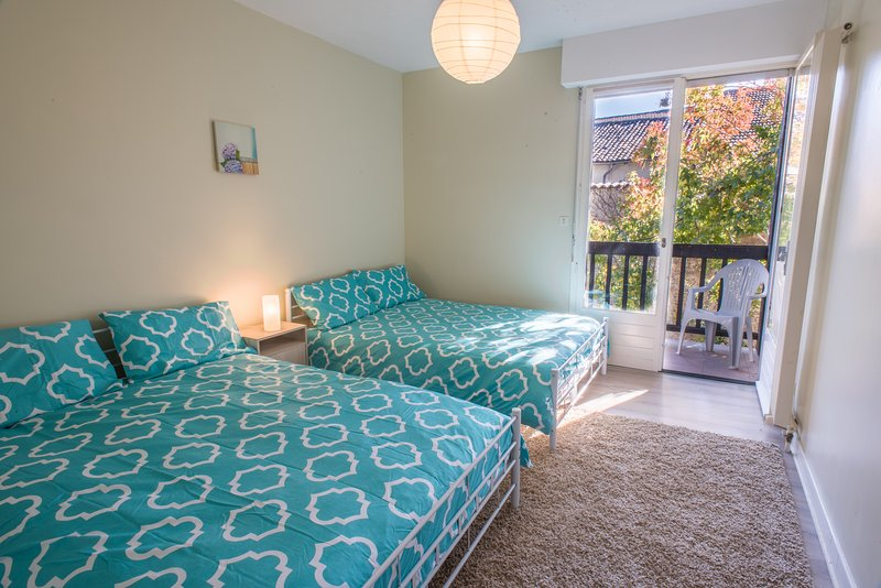 Twin share accommodation, double beds, with separate ensuite bathroom
