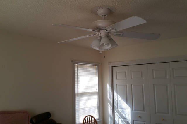 one of the many ceiling fans in the home.  Total of 6 fans