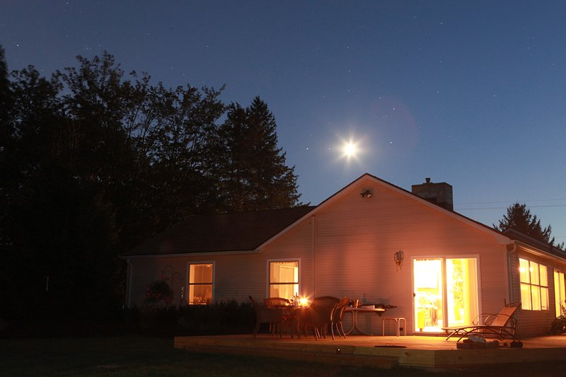 After a busy day of relaxation, just enjoy the crickets chirping and the beautiful starry sky!