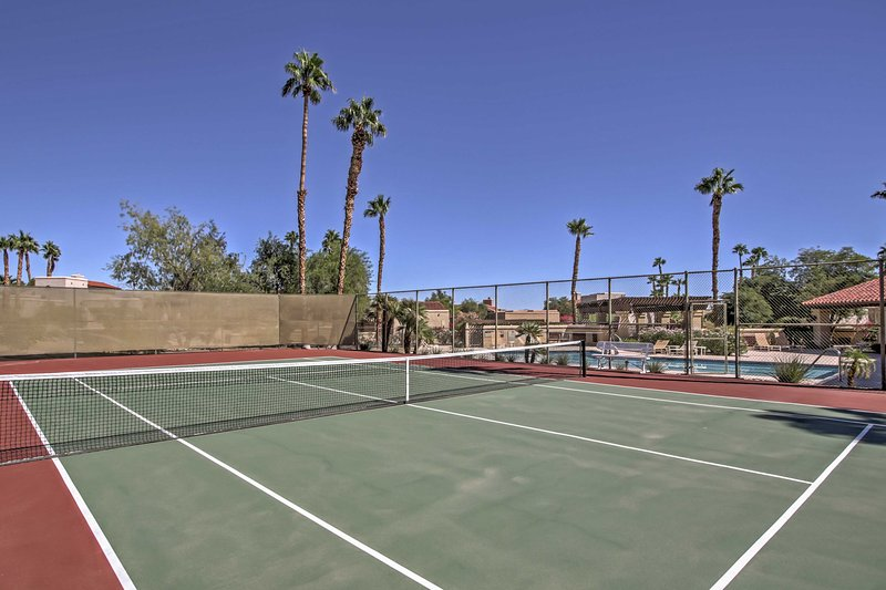 Tennis anyone? Play a match on the community courts!
