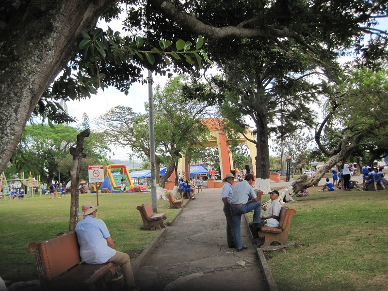 Central Square in Tilaran is a community gathering place.