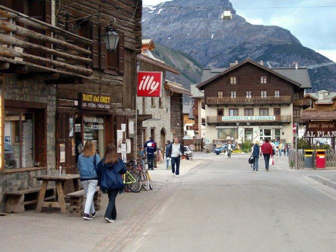 Livigno town centre
