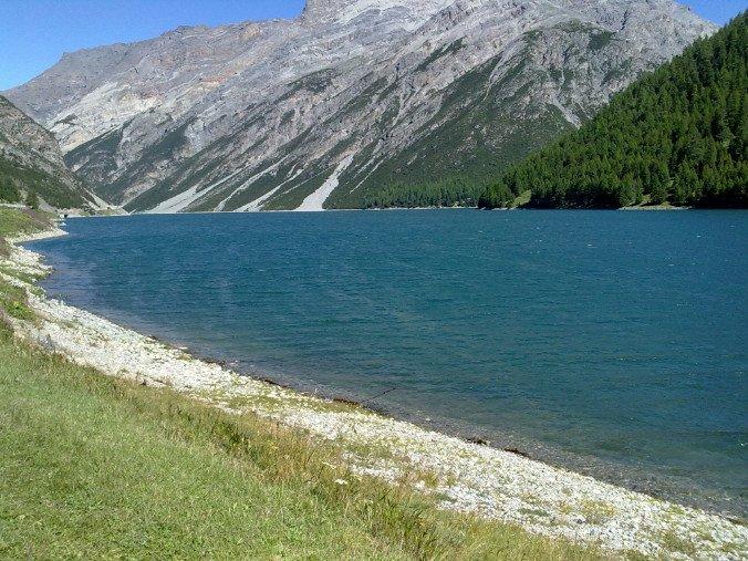 Shore of Lake Livigno
