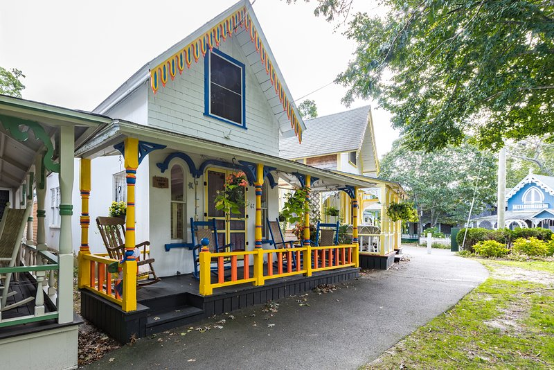 Adorable, Colorful Campground Cottage