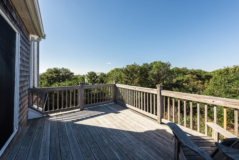 Private Deck off of 3rd Level Bedroom overlooks Pool and Yard