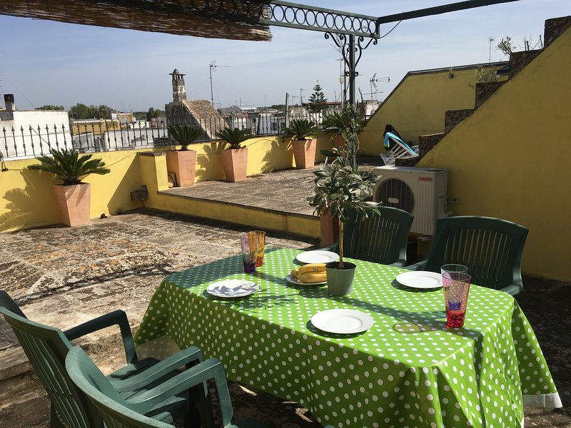 Large private terrace for sunbathing and alfresco dining.