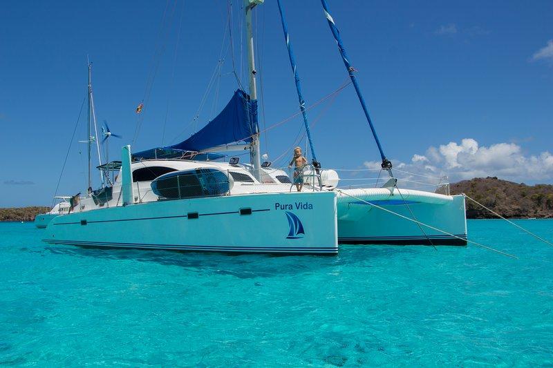 Catamaran Pura vida sailing San Blás., holiday rental in Guna Yala Region
