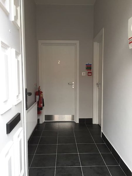 A entrada para appartment