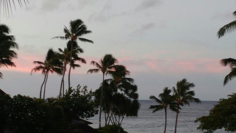 Attrapez un lever de soleil Kauai de votre véranda privée!